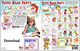 ScrapSMART - Teddy Bear Party Software Kit - Jpeg, PDF, and Microsoft Word Files for Mac [Download]