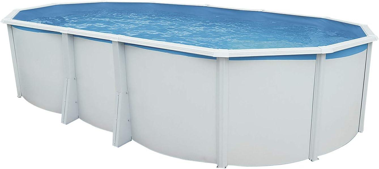 Steinbach Juego de Pared Pool Acero Highline Ovalado, Color Blanco, 640x 366x 132cm, 22300L, 012622