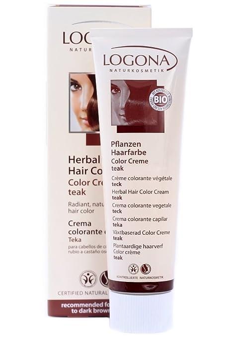 amazoncom logona herbal hair color cream teak 501 ounce chemical hair dyes beauty - Logona Color Creme