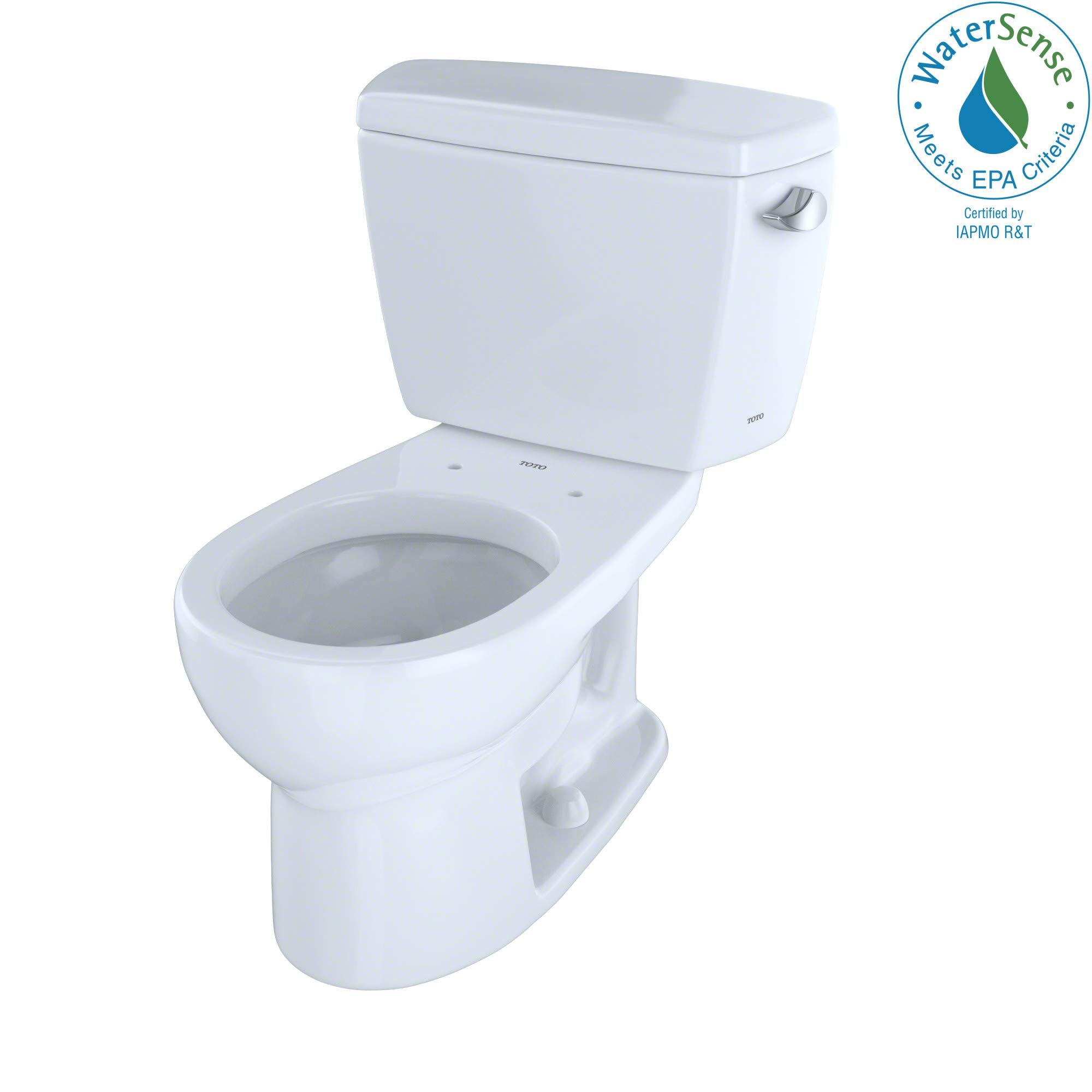 TOTO CST743ER#01 Eco#Drake Round Bowl Toilet with Right Hand Tank C743E + St743Er, Cotton White by TOTO