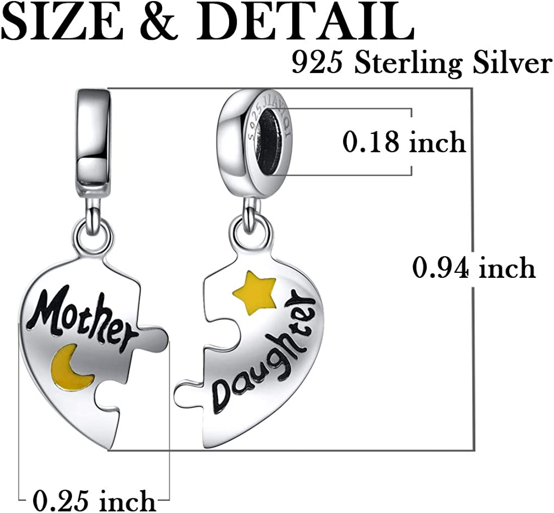 SILVER SISTERS SPLIT CIRCLE WITH DAISES DANGLE BEAD