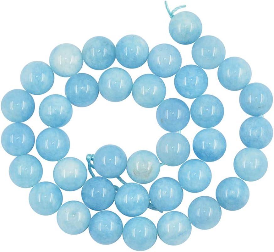 Sharplace 1 Hebra de 15 Pulgadasde Jade Natural Que Hace Piedra Redonda Perlas Sueltas - 10 mm