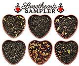 Sweetheart Loose Leaf Tea Sampler in Red Heart Tins w/ 6 Varieties of