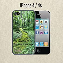 iPhone Case Buddha Quote Happiness for iPhone 4 /4s Rubber Black (Ships from CA)