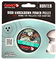 Gamo 6320824BL54 Hunter Pellets (Round Nose) .177 Cal. Tins of 250 - Blister Black