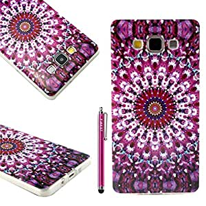 Samsung Galaxy A7 Case, FIBEST Cute Slim Soft Flexible TPU GEL Back Case Protective Skin Cover for Samsung Galaxy A7 +Stylus Pen
