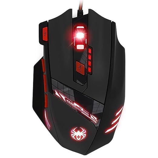 164 opinioni per KingTop Gaming Mouse Ottico con presa USB, 6 DPI Regolabili 1000-9200 DPI, 6 LED