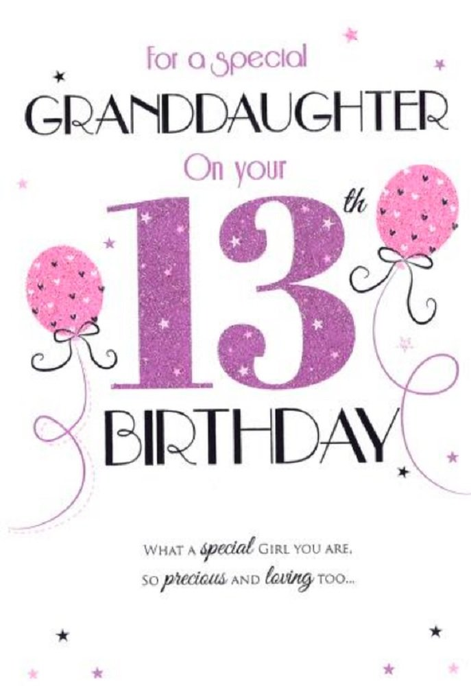 Special Granddaughter 13th Birthday Card ICG 7270