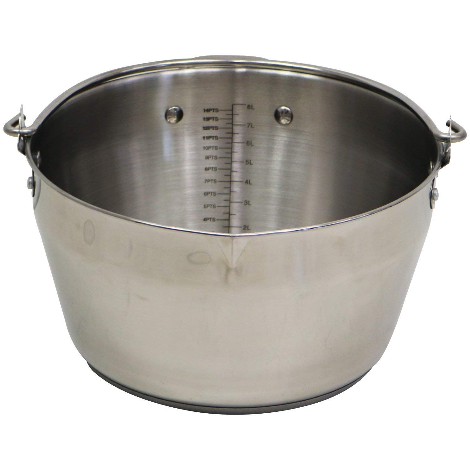Oypla 9L Stainless Steel Maslin Jam Preserving Pan with Handle