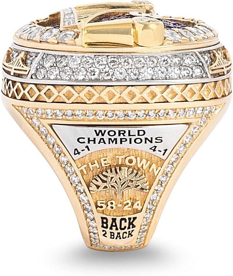 Golden State Warriors Championship Ring 2018 Curry-Spieler-Replik-Basketballring F/ür Freund-Sammlung,9 Luxuon RingeM/ännlicher Ring
