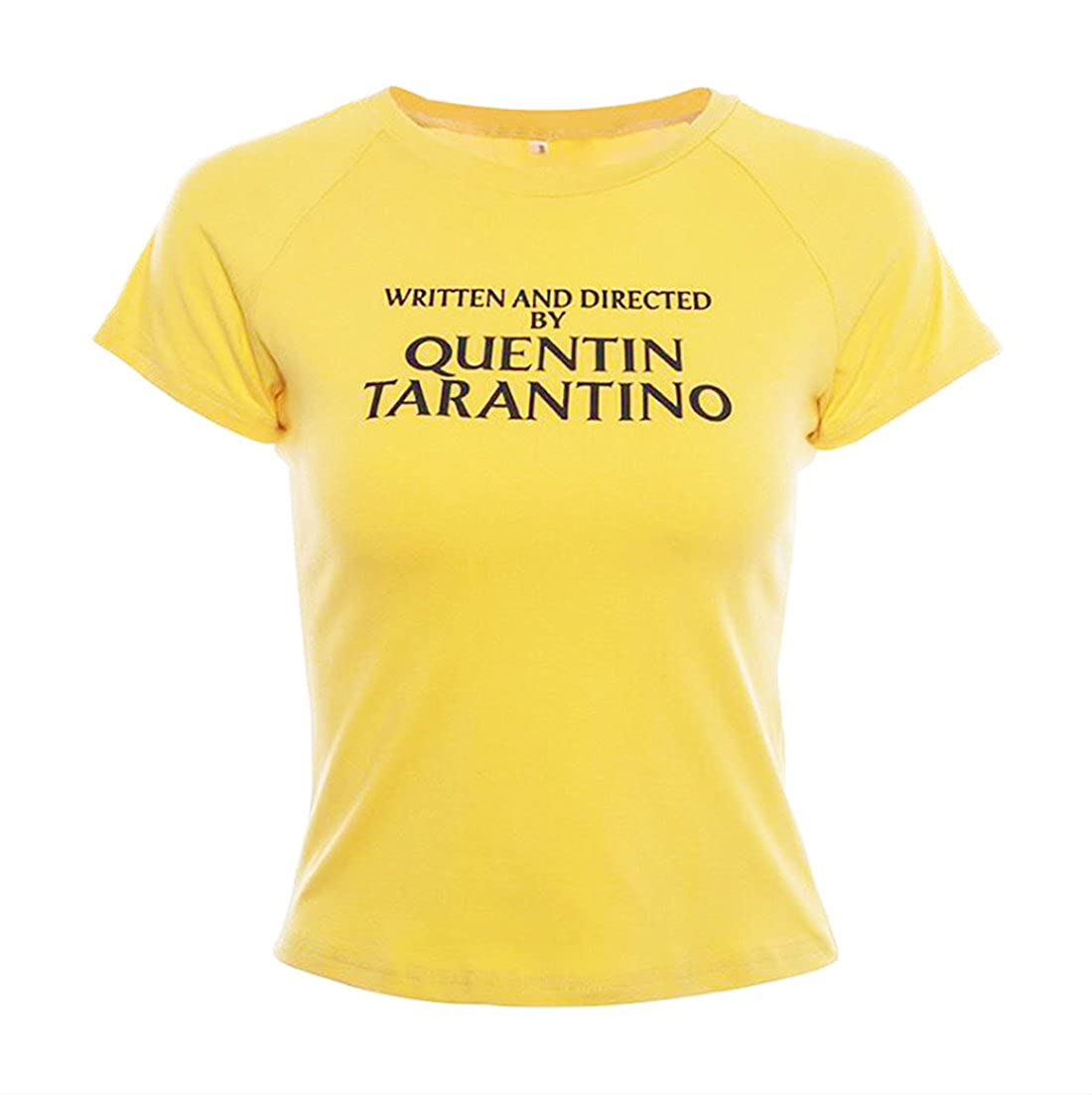 4c7e985fa Amazon.com: Women Summer Tees Written and Directed by Quentin Tarantino  Short Sleeve T Shirts: Clothing