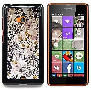 For Nokia Lumia 540 Case , Delicado composición del arte - Diseño Patrón Teléfono Caso Cubierta Case Bumper Duro Protección Case Cover Funda