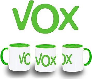 MERCHANDMANIA Taza Verde Logo Partido VOX Color mug: Amazon.es ...