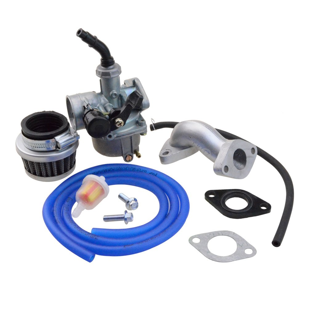 GOOFIT PZ19 Carburetor with Air Filter Carburetor Rebuild Kit for Honda XR//CRF 50cc 70cc 90cc 110cc 125cc Moped ATV POLARIS Taotao Sunl Roketa Baja Kazuma Red