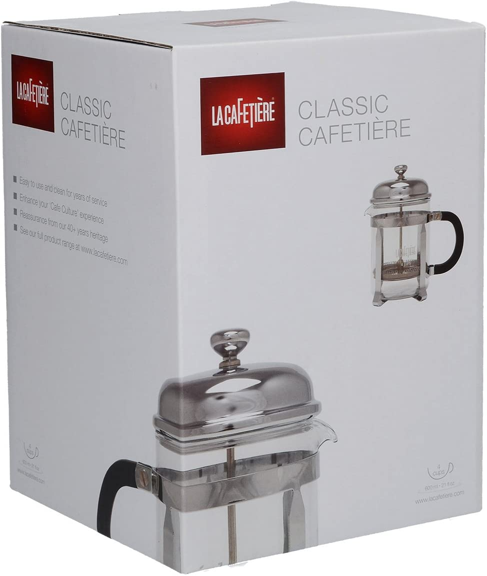 La Cafetiere Classic 4 Cup Chrome