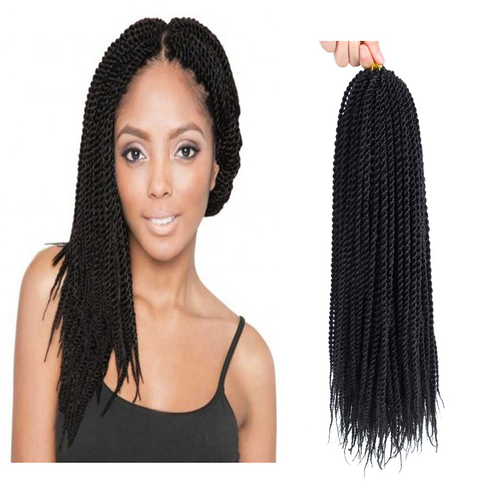 Amazon Com Befunny 8packs 14 Inch Senegalese Twist Crochet Hair Short Crochet Braids Small Pre Looped Mini Havana Mambo Ez Twist Black Crochet Braiding Hair 20strands Pack 14 1b Beauty