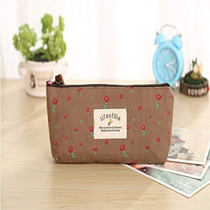 Cute Kawaii Floral Flower Canvas Zipper Lápiz Estuches ...