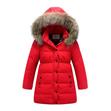 3a40f8970 Amazon.com  Shengdilu Kids Big Girls  Long Down Puffer Jacket Parka ...