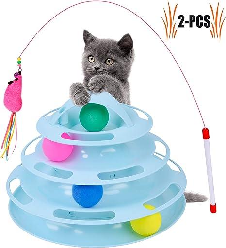 Juguetes para Gatos, nuevos Cuatro Capas de Juguetes para Animales ...