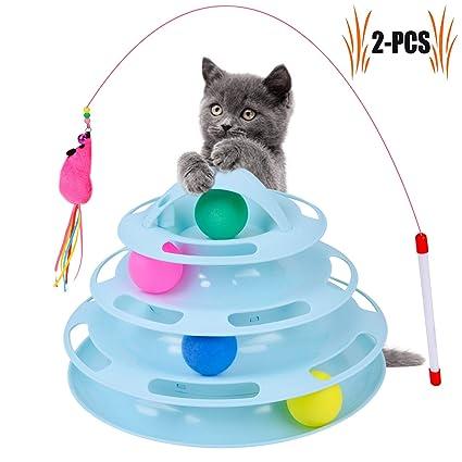 Juguetes para Gatos, Cuatro Capas de Juguetes para Animales Gatito Juguete Inteligencia Juego de bandejas