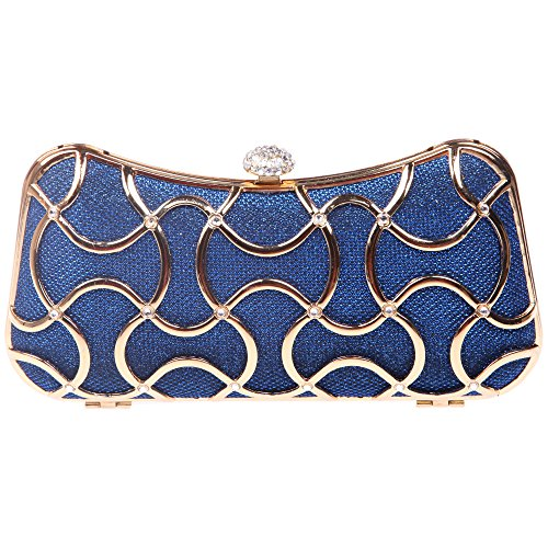 Gris Blue gris UK1663 Pochette pour femme S Bonjanvye S w8TX1qaWWZ