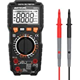 Meterk デジタルマルチメーター 6000カウント 真の実効値測定 AC/DC電圧 AC/DC電流 抵抗 導通チェック 周波数 バックライトLED付き/警告音 日本語説明書付き