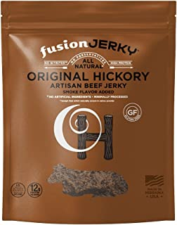 product image for Fusion Jerky Hickory Beef Artisan Jerky, 2.75 oz Snack Pack – Gluten Free. No Nitrates. No Added MSG. No Preservatives.