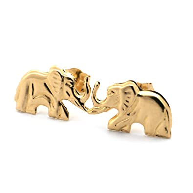 in shaped search silver small stud earrings elephant animal a dotoly jewelry