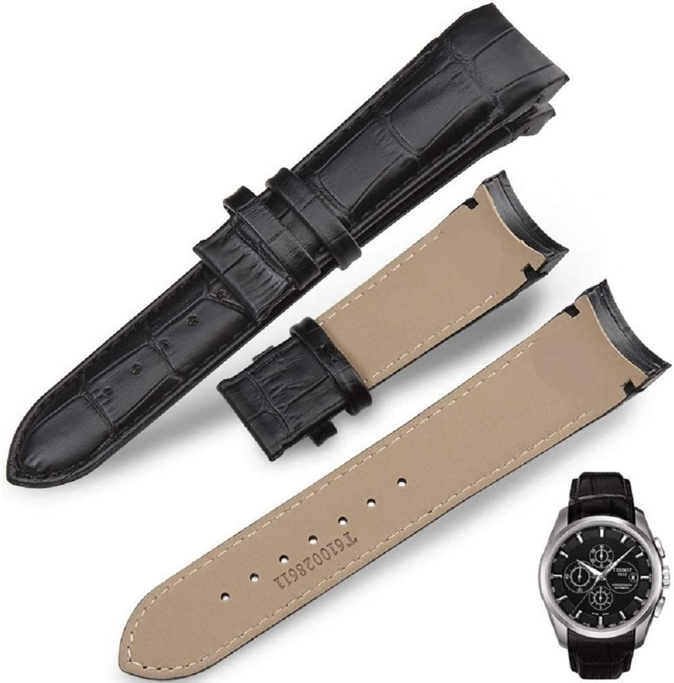 New leather strap Watchband for Tissot T035617A  T035439A 23mm Black