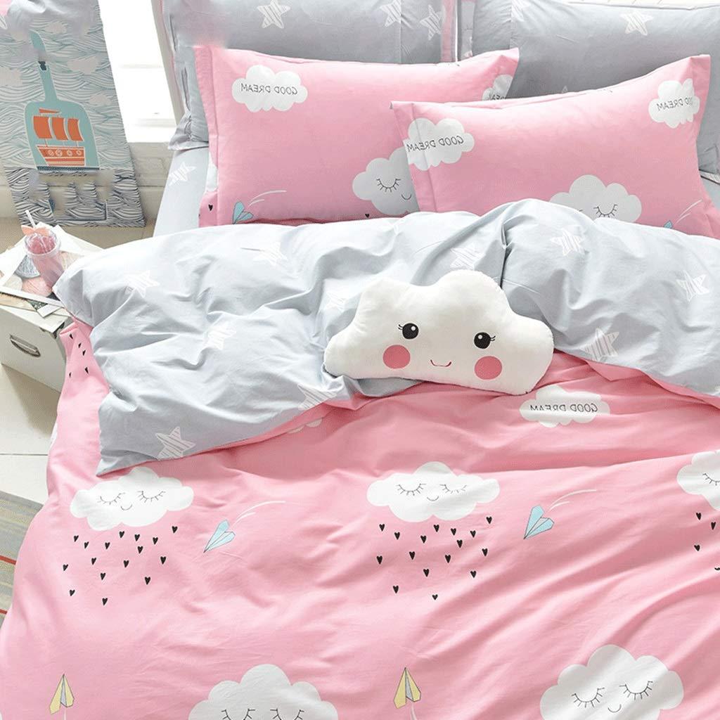 Houlingmei 掛け布団カバー- コットンのベッド1.8mのベッドの上の4ピースの綿のキルトカバーシート (色 : Picture C, サイズ さいず : 1.8m) 1.8m Picture C B07QSFJLFK