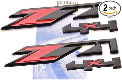 2x OEM Chrome Z71 Emblems 4x4 for GMC Chevy Silverado Sierra Tahoe Suburban Pair