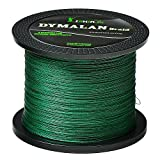 JIMEI Braided Fishing line 30LB Green 1000m/1094yds 4 Strands PE Braid Superline - Abrasion Resistance Fishing Line - Zero Stretch - Thinner Diameter for Saltwater & Fresh Water by DYMALAN