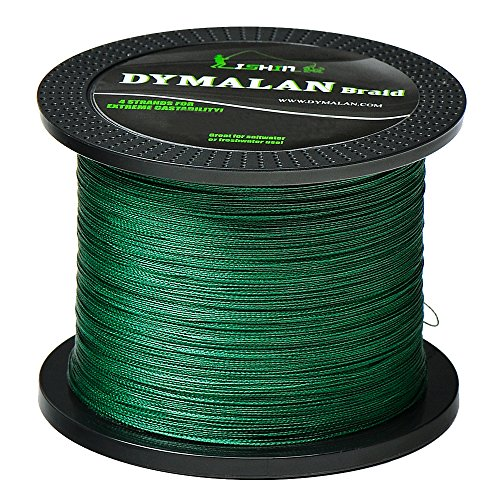 JIMEI Braid Fishing line 4 Strands 20LB 100M/109YDS Diameter 0.18mm Green PE Braided line Super Strong and Thin for River&sea&ice&Fly Fish with Saltwater or Freshwater by Dymalan