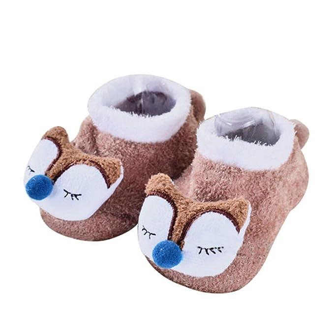 AAA226 Cute 3D patrón de dibujos animados patrón corto de manguera niños pequeños antideslizantes calcetines zapatos