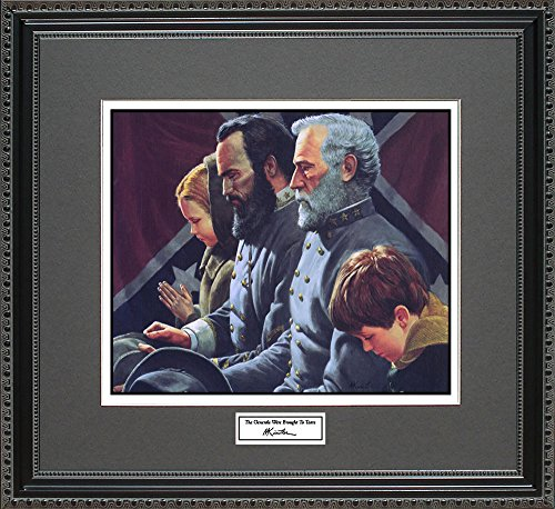 Mort Kunstler THE GENERALS WERE BROUGHT TO TEARS Framed Wall Art Civil War Print, 18x16