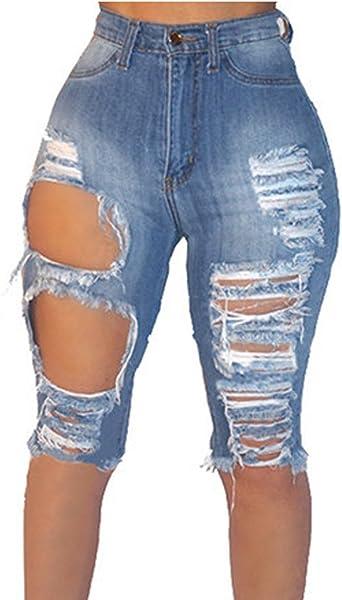 womens denim shorts knee length