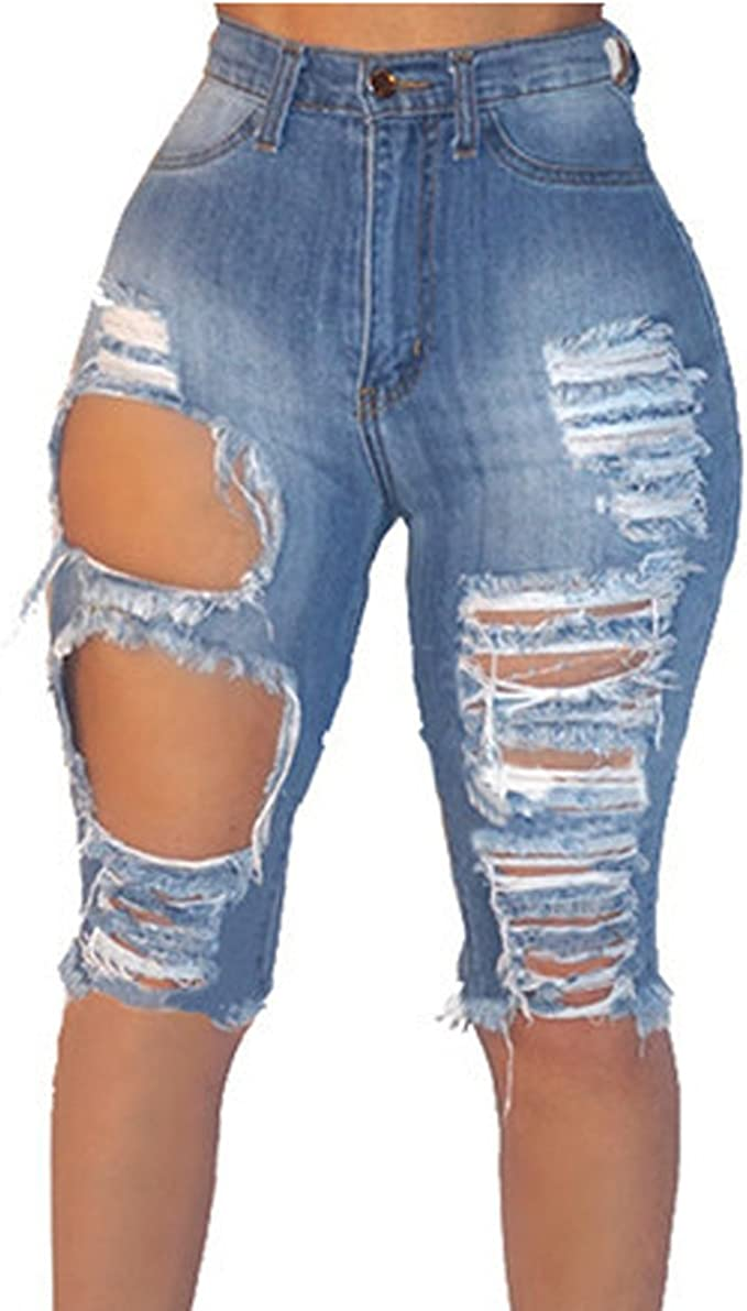 jean shorts to the knee