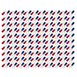 uxcell 200Pcs AWG 22-16 U-Type Crimp Terminals Insulated Wire Connectors Spade Red Blue