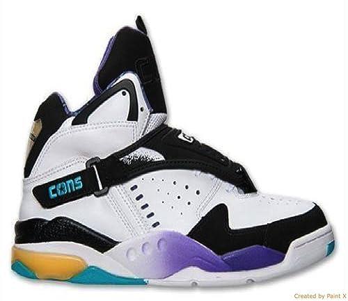 689600a3fa7 Converse Aero Jam Hi Grandmama (Larry Johnson Retro)  Black White Blue Purple Yellow (Size 11.5)  Amazon.ca  Shoes   Handbags