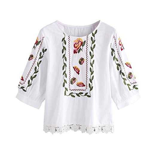 Amazon Jushye Womens Floral Blouse Ladies Lace Flower Printed