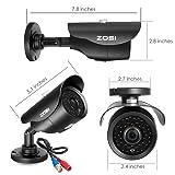 ZOSI 8CH Full 1080p HD-TVI Security Camera System,8 Channel 1080p Surveillance DVR and (8) HD 2.0MP 1080p Weatherproof Bullet CCTV Cameras,42pcs IR LEDs 120ft(40m) IR Night Vision 2TB Hard Drive