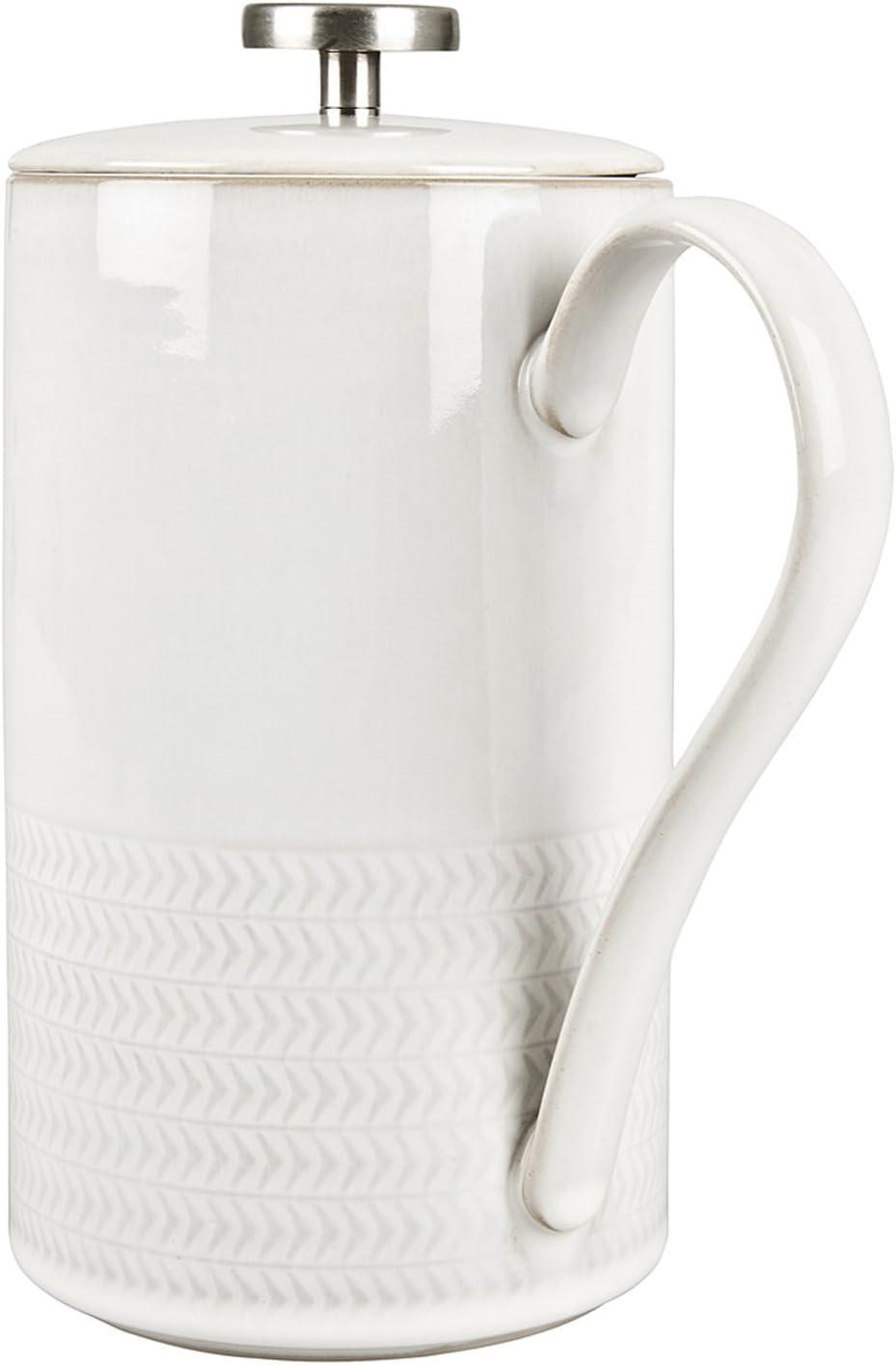 Amazon Com Denby Usa Natural Canvas Textured French Press Pasta Bowls