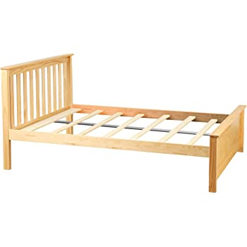 Amazon Com Max Amp Lily Solid Wood Full Size Bed Natural