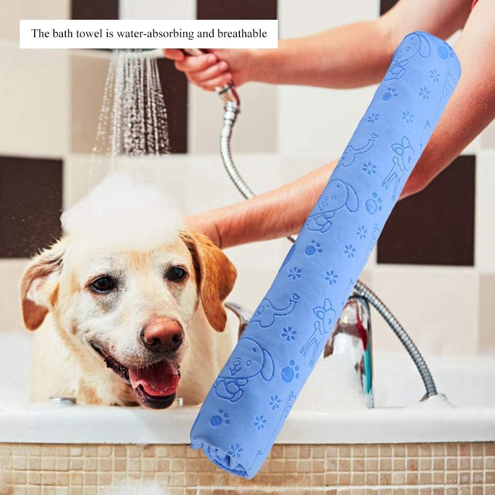 S/úper Absorbente Micro-Gamuza Toalla para Mascotas Secado r/ápido Albornoz Ba/ño Toalla Seca Albornoz para Perros Toalla para Mascotas Azul