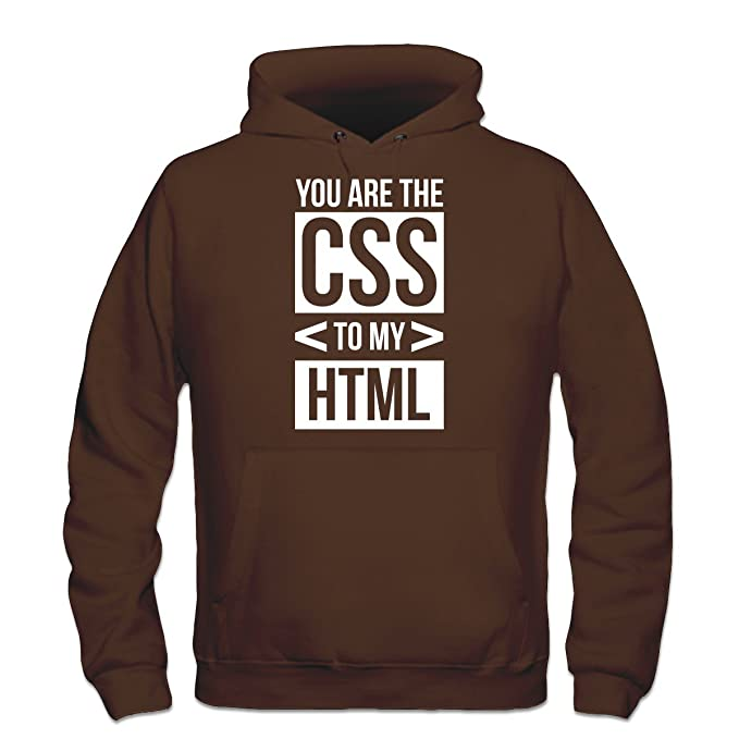 Shirtcity Sudadera con Capucha You Are The CSS To My HTML by: Amazon.es: Ropa y accesorios