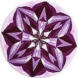 Grund Designer Series Accent/Bath Rug, Purple Rain, 32-Inch by 32-Inch, Purple Review