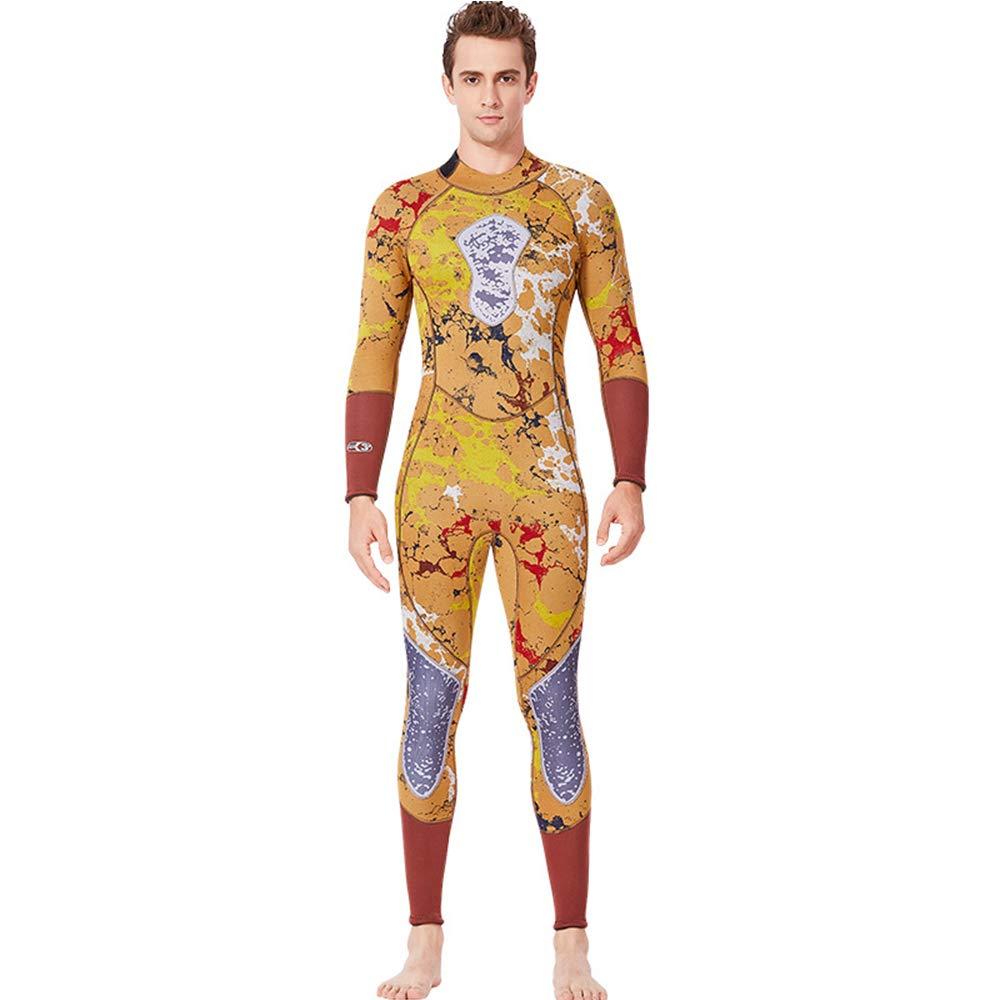 ZUKN Hombre de Cuerpo Completo de Neopreno Deportes acuáticos 3mm Neopreno Traje de Buceo de Cremallera de Manga Larga para una Pieza de Buceo Traje de Surf para Buceo Kayak natación Buceo y snorkel