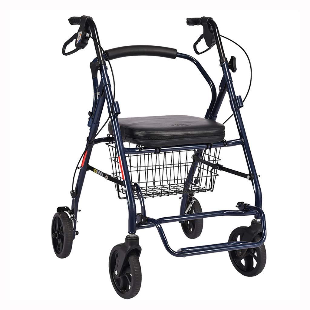 CCJW Trolley para Mayores Walker Rollator Cuatro Ruedas ...