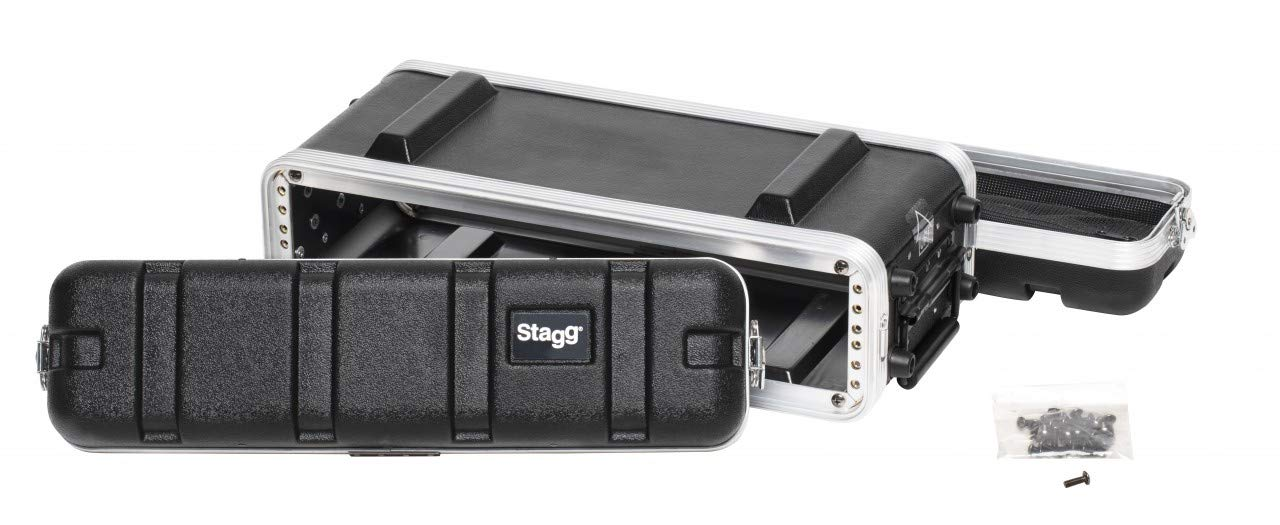 Stagg ABS-2US Shallow Case for 2-Unit Rack - Black