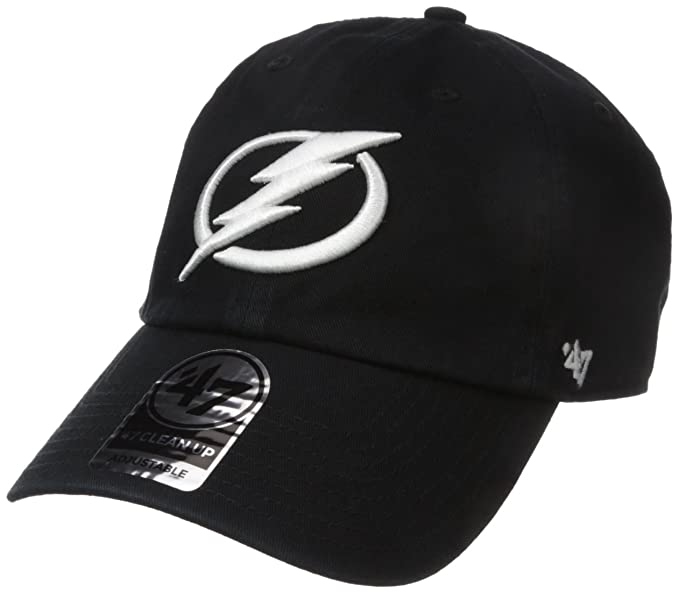 the latest 62d8b 36566 '47 NHL Tampa Bay Lightning Clean Up Adjustable Hat, One Size, Black